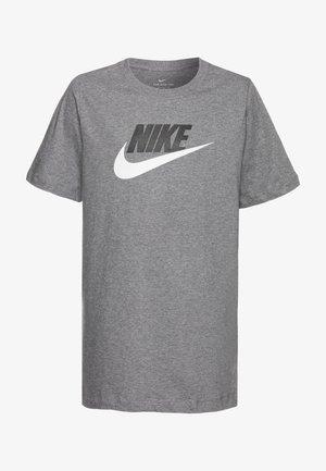 TEE FUTURA ICON  - T-shirt con stampa - carbon heather/white