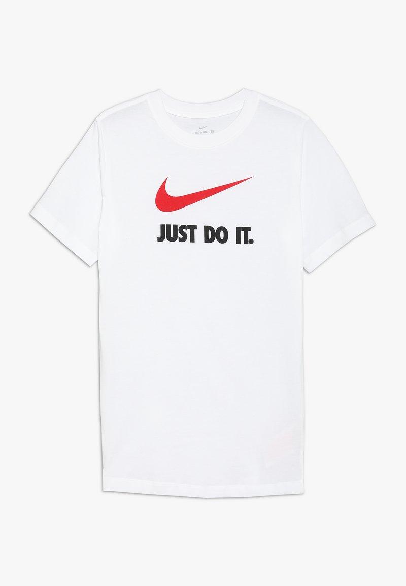 Nike Sportswear - TEE - T-shirt print - white/university red