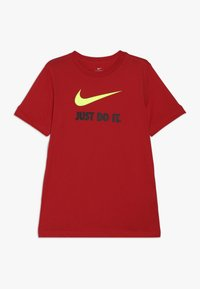 Nike Sportswear - TEE JDI - T-shirt imprimé - university red/volt - 0
