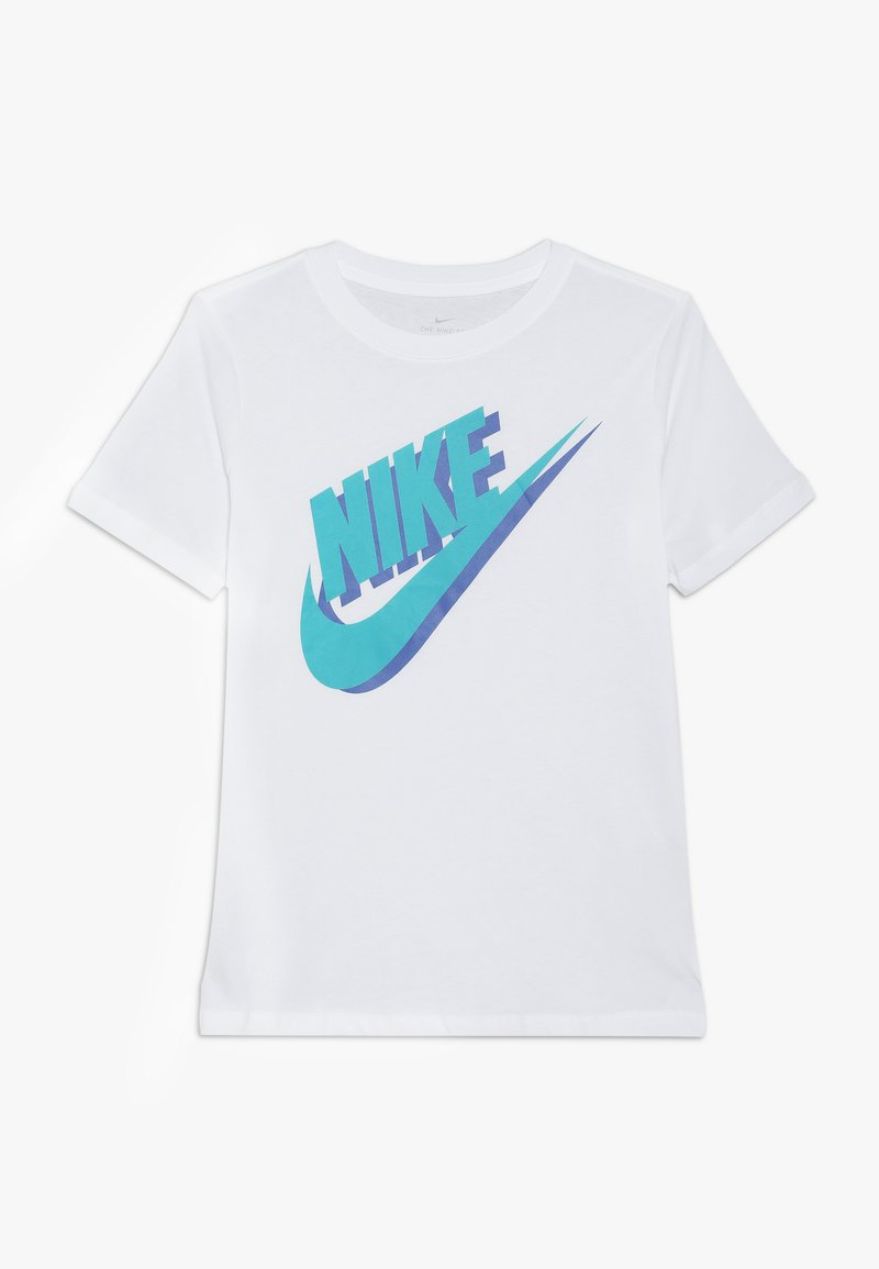 Nike Sportswear - TEE LARGE FUTURA - T-shirts print - white/teal/game royal
