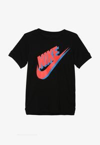 Nike Sportswear - TEE LARGE FUTURA - Triko spotiskem - black/bright crimson/photo blue - 2