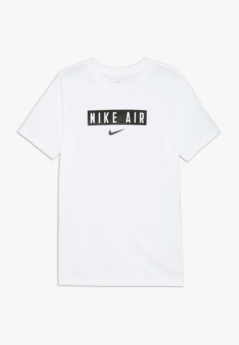 Nike Sportswear - TEE AIR BOX - T-shirts print - white/black