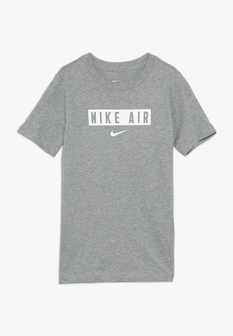 Nike Sportswear - TEE AIR BOX - T-shirt print - dark grey heather/white