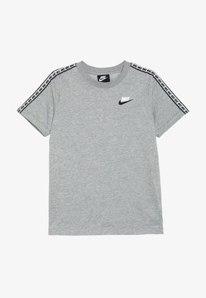 REPEAT TEE - T-shirt imprimé - grey heather/white