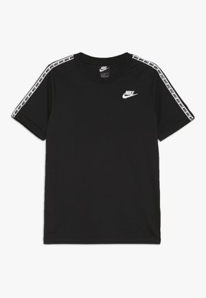 REPEAT TEE - Triko s potiskem - black/white