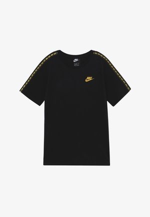 REPEAT TEE - T-shirt imprimé - black/metallic gold