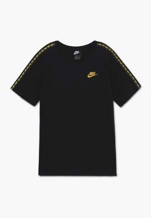 REPEAT TEE - Print T-shirt - black/metallic gold
