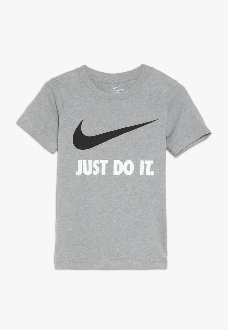 Nike Sportswear - TEE - Print T-shirt - dark grey heather/white