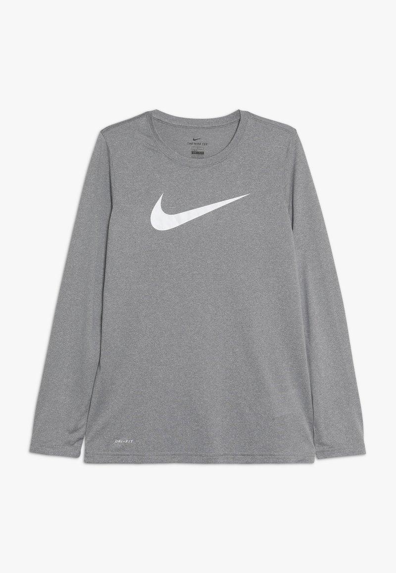 Nike Sportswear - DRY TEE SOLID - Long sleeved top - dark grey heather