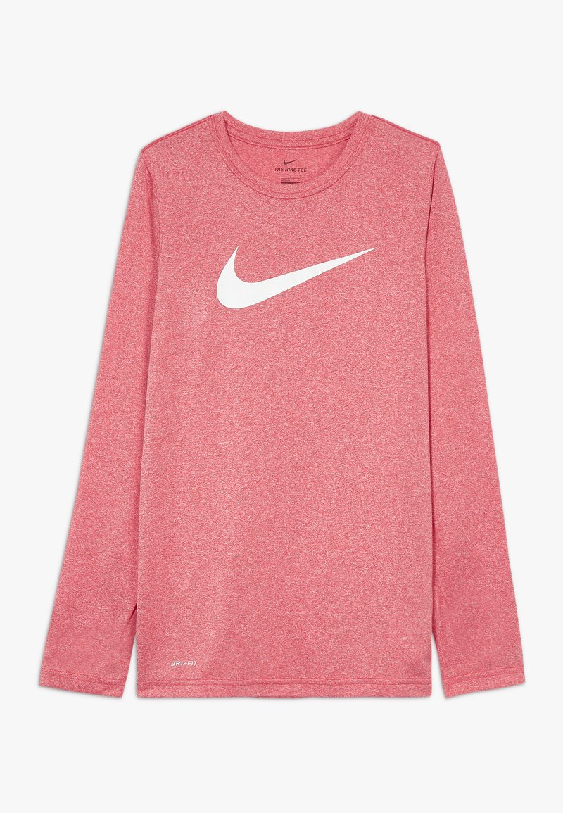 Nike Sportswear - DRY TEE SOLID - Top s dlouhým rukávem - gym red/white