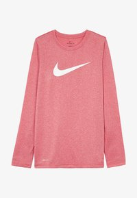 Nike Sportswear - DRY TEE SOLID - Top s dlouhým rukávem - gym red/white - 3