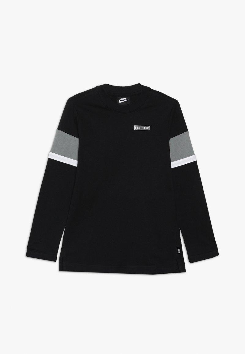 Nike Sportswear - AIR - Maglietta a manica lunga - black/dark steel grey/white