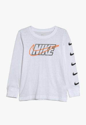 OUTLINED BLOCK TEE - Maglietta a manica lunga - white