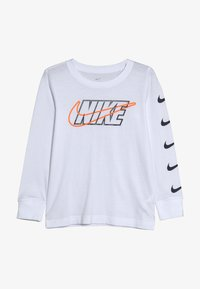 Nike Sportswear - OUTLINED BLOCK TEE - T-shirt à manches longues - white - 2