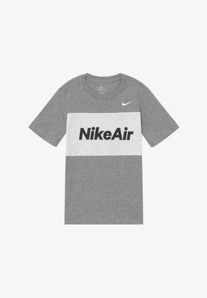 T-shirt print - dark grey heather/white