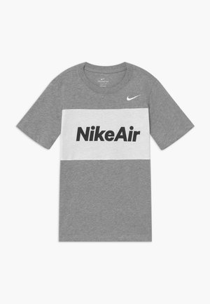 T-shirts med print - dark grey heather/white