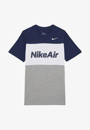 Print T-shirt - midnight navy/white/grey heather