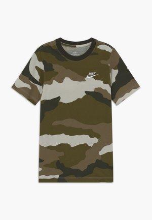 TEE FUTURA - T-shirt print - light bone/sequoia/medium olive