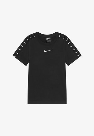 TEE TAPE - T-shirt z nadrukiem - black/white