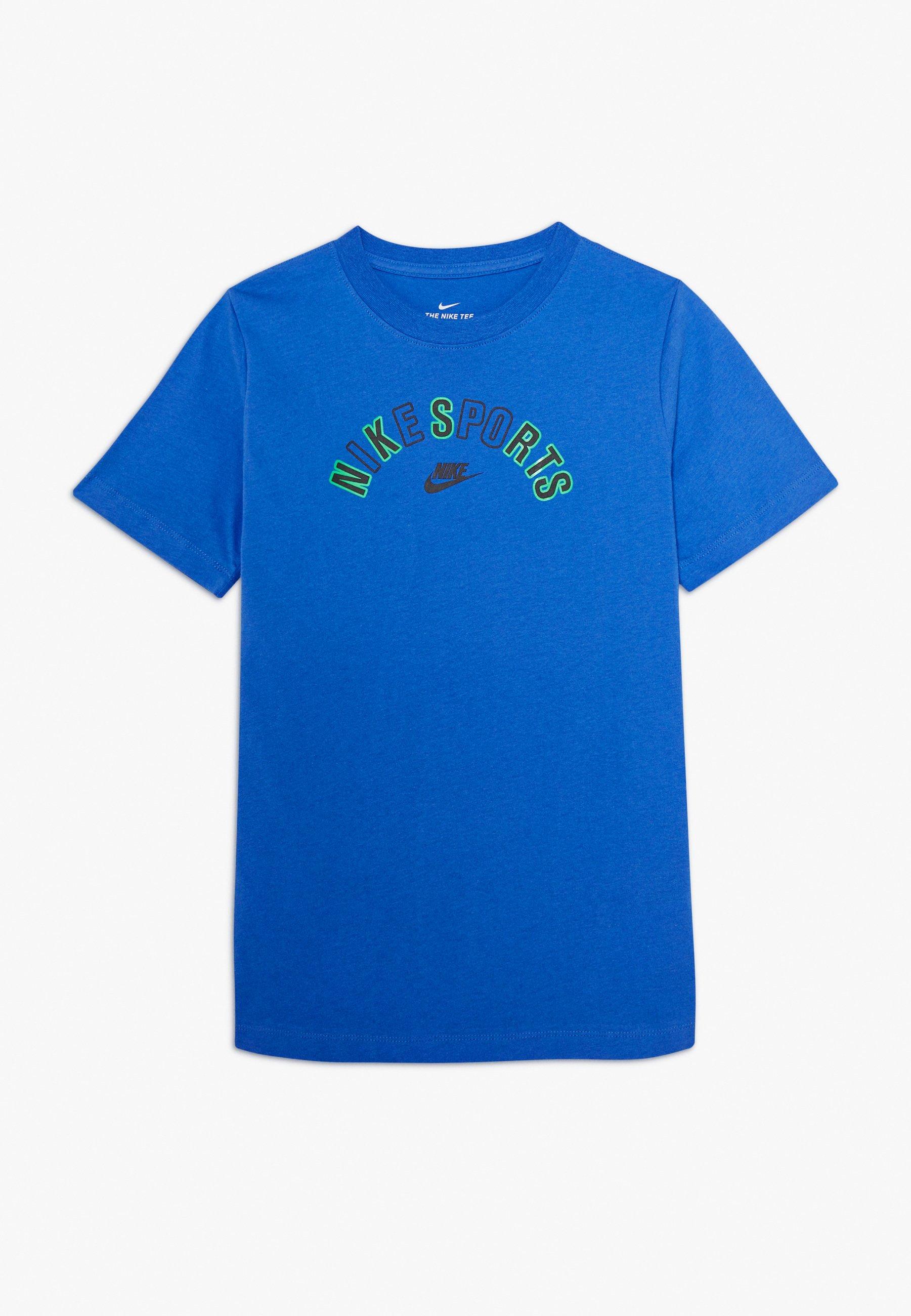 TEE GET OUTSIDE T shirt imprimé pacific blue