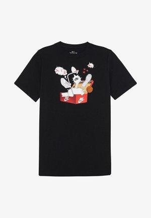 TEE SHOEBOX - Print T-shirt - black