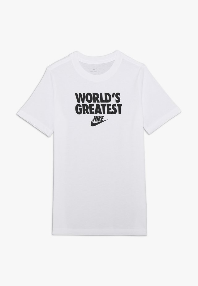 TEE WORLDS GREATEST - Print T-shirt - white