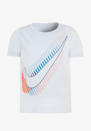 OVERSIZE STACKED TEE - Print T-shirt - football grey