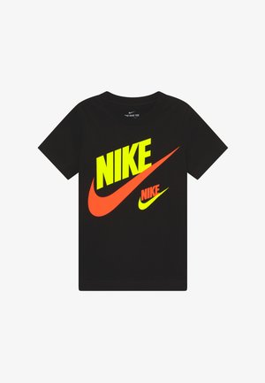 DOUBLE FUTURA TEE - Print T-shirt - black