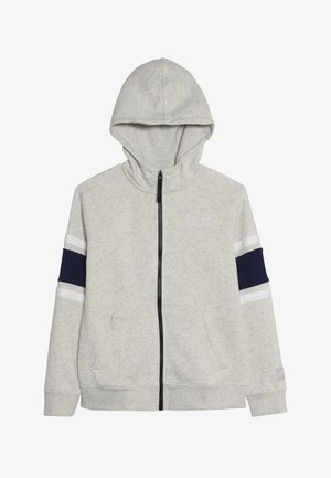 AIR  - veste en sweat zippée - oatmeal heather/blue void/white