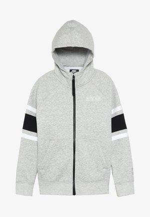 AIR  - veste en sweat zippée - dark grey heather/black