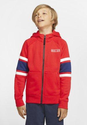 AIR  - veste en sweat zippée - red/dark blue/white