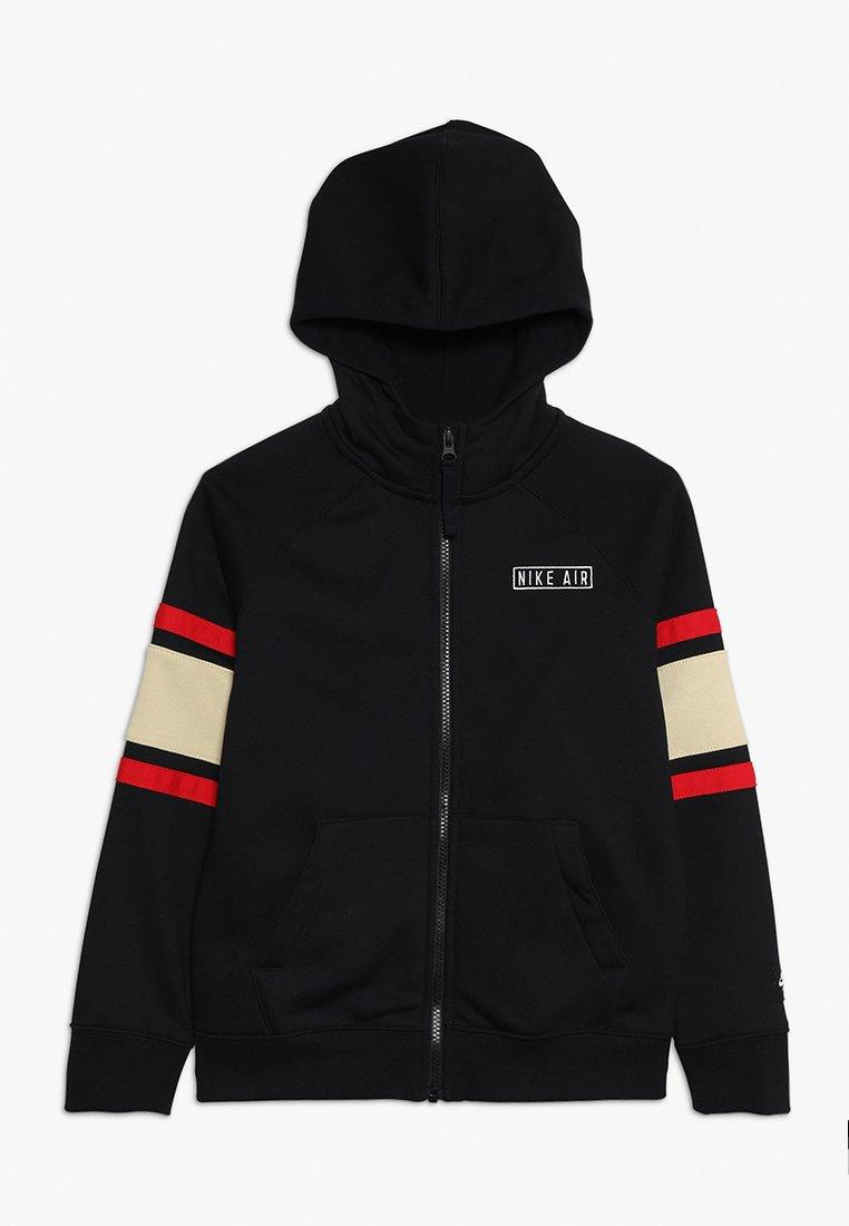 Nike Sportswear - AIR HOODIE - Sweatjacke - black/team gold/university red