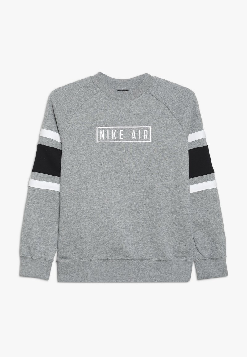 Nike Sportswear - AIR CREW - Sweatshirt - dark grey heather/black/white