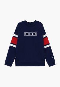 Nike Sportswear - AIR CREW - Sweater - blue void/university red/white - 0