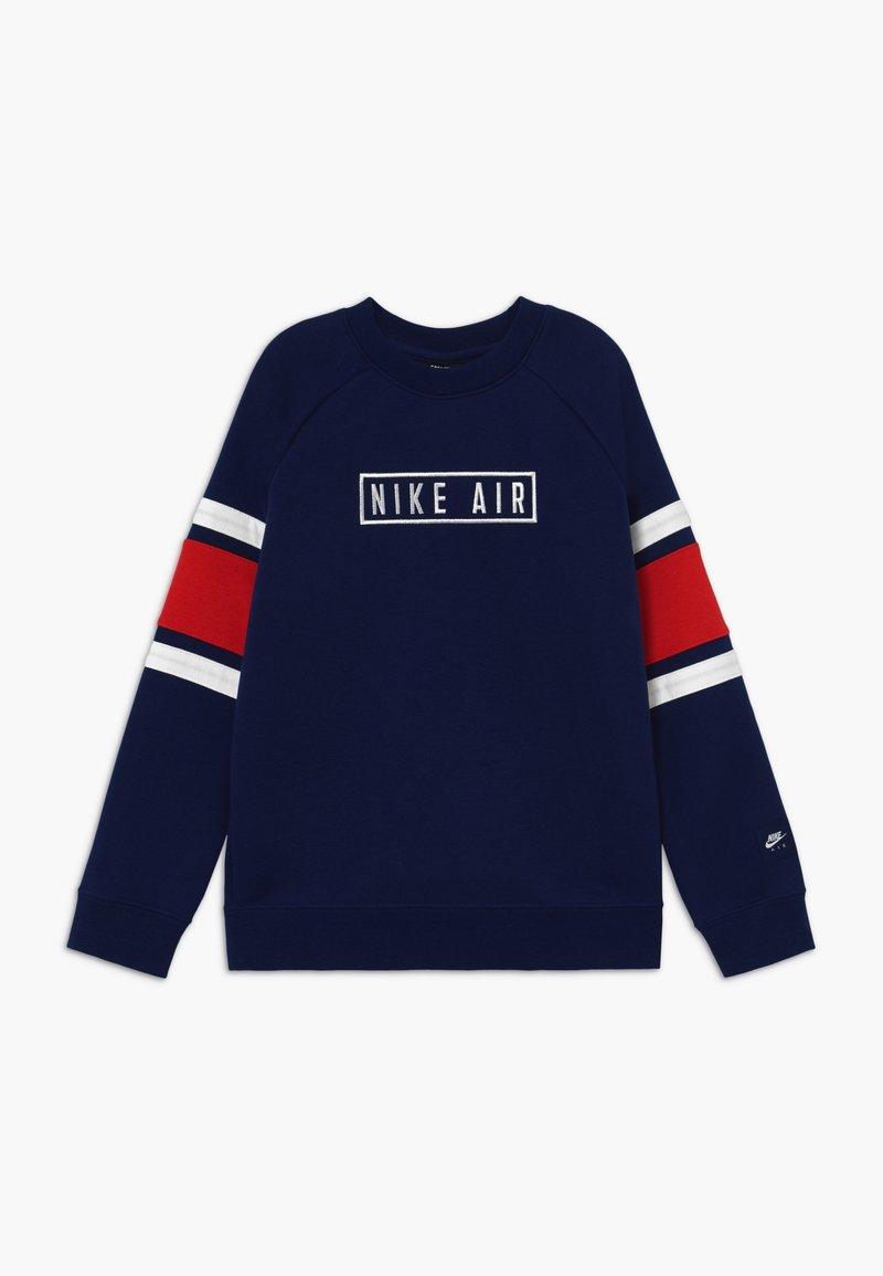 Nike Sportswear - AIR CREW - Sweater - blue void/university red/white