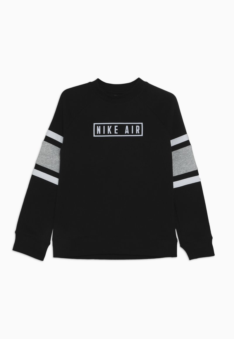 Nike Sportswear - AIR CREW - Sweatshirt - black/dark grey heather/white