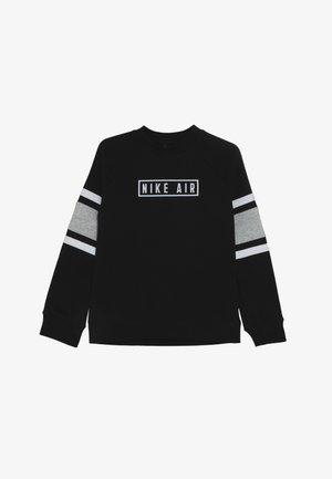 AIR CREW - Sweater - black/dark grey heather/white