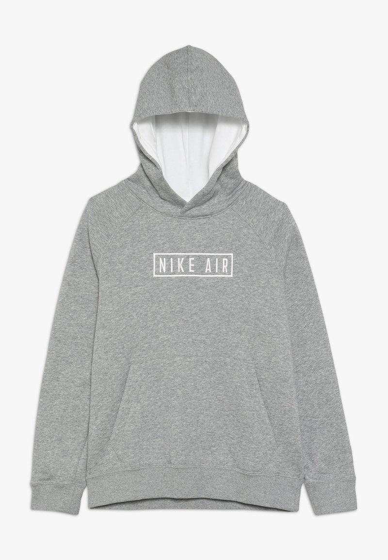 Nike Sportswear - AIR HOODIE - Hoodie - dark grey heather/summit white