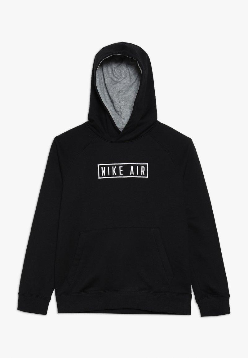 Nike Sportswear - AIR HOODIE - Hoodie - black/dark grey heather/white