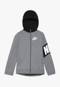 Nike Sportswear - CORE AMPLIFY HOODIE - Felpa aperta - carbon heather/black - 0