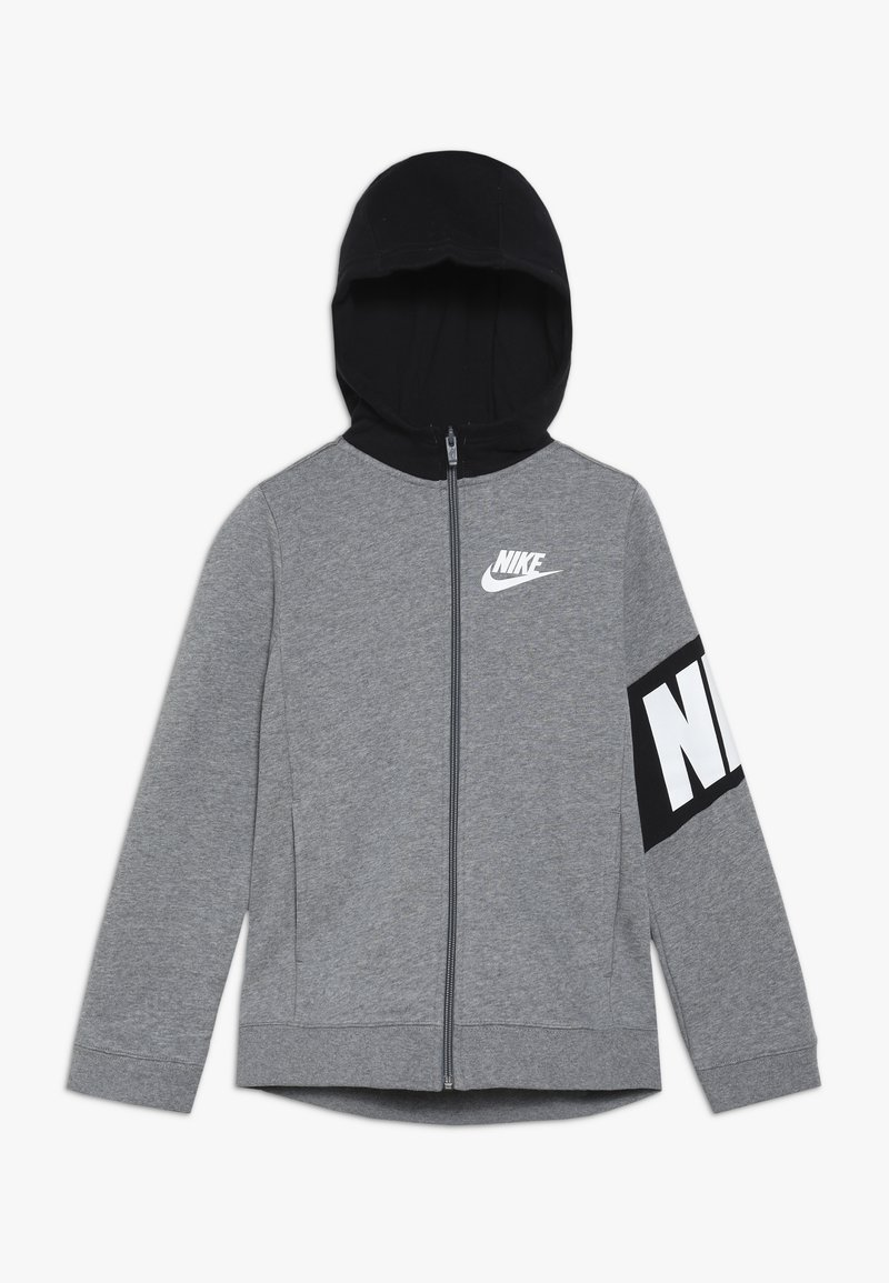 Nike Sportswear - CORE AMPLIFY HOODIE - Felpa aperta - carbon heather/black
