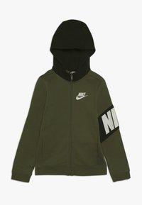 Nike Sportswear - CORE AMPLIFY HOODIE - Hoodie met rits - medium olive/black - 0