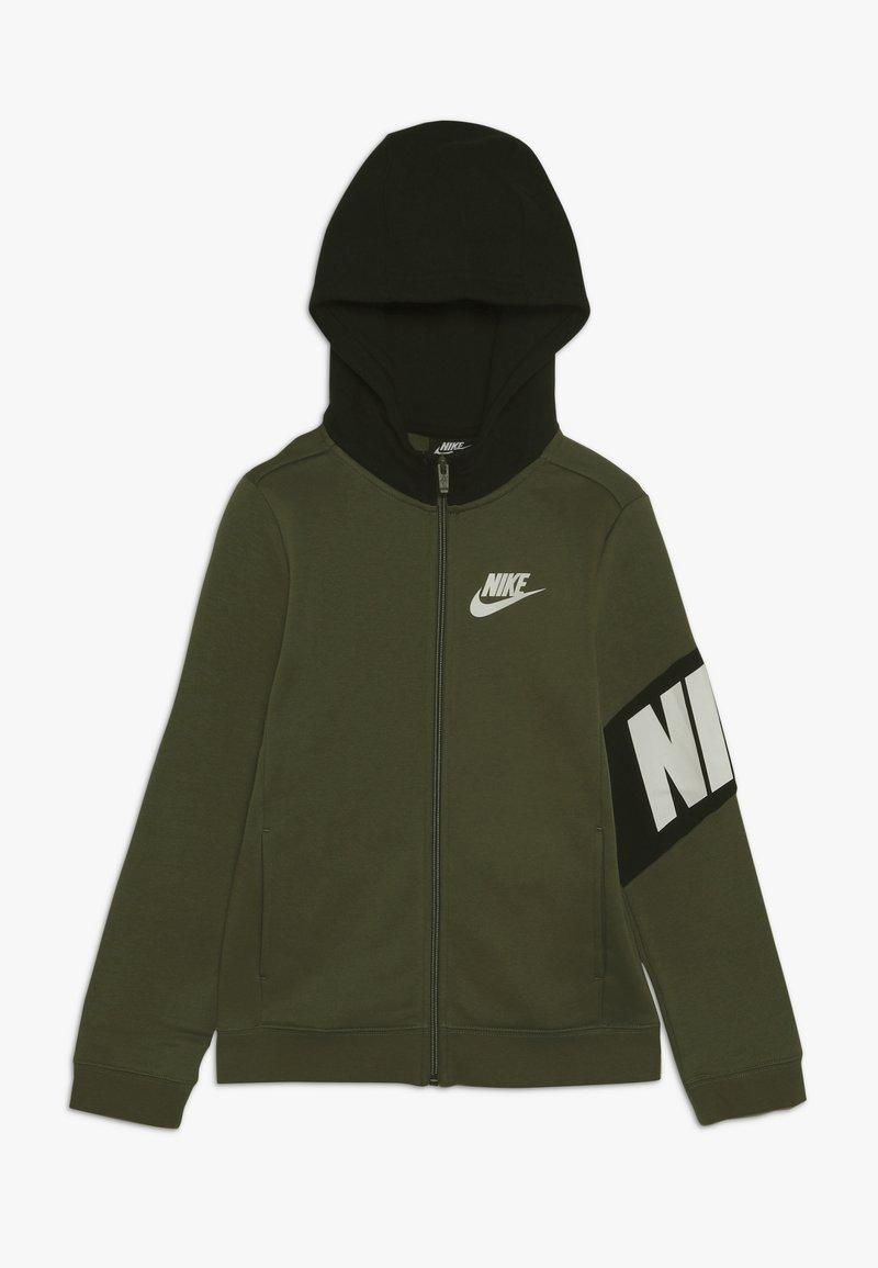 Nike Sportswear - CORE AMPLIFY HOODIE - Hoodie met rits - medium olive/black