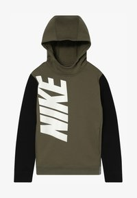 medium olive/black/carbon heather