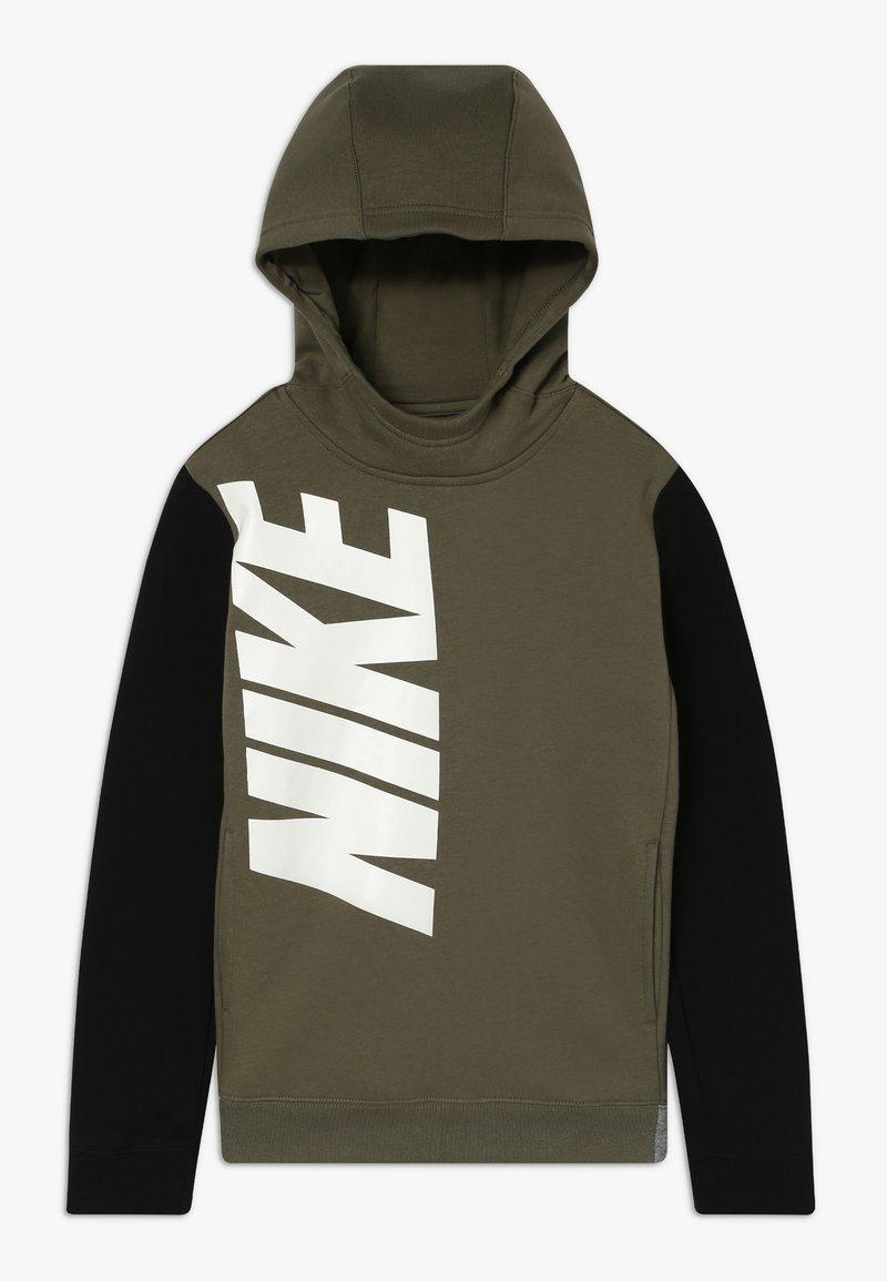 Nike Sportswear - CORE AMPLIFY  - Mikina skapucí - medium olive/black/carbon heather
