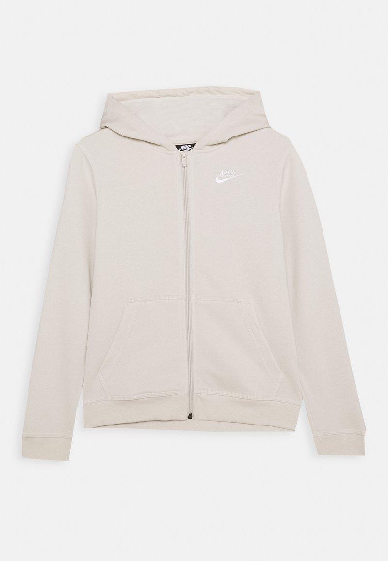 Nike Sportswear - HOODIE CLUB - Mikina na zip - orewood/white