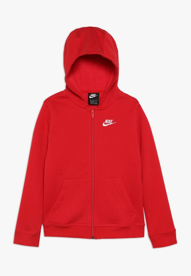 HOODIE CLUB - Huvtröja med dragkedja - university red/white