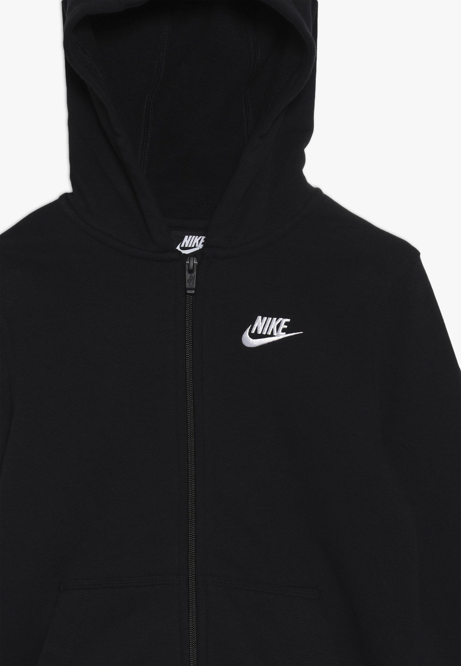 HOODIE CLUB veste en sweat zippée black