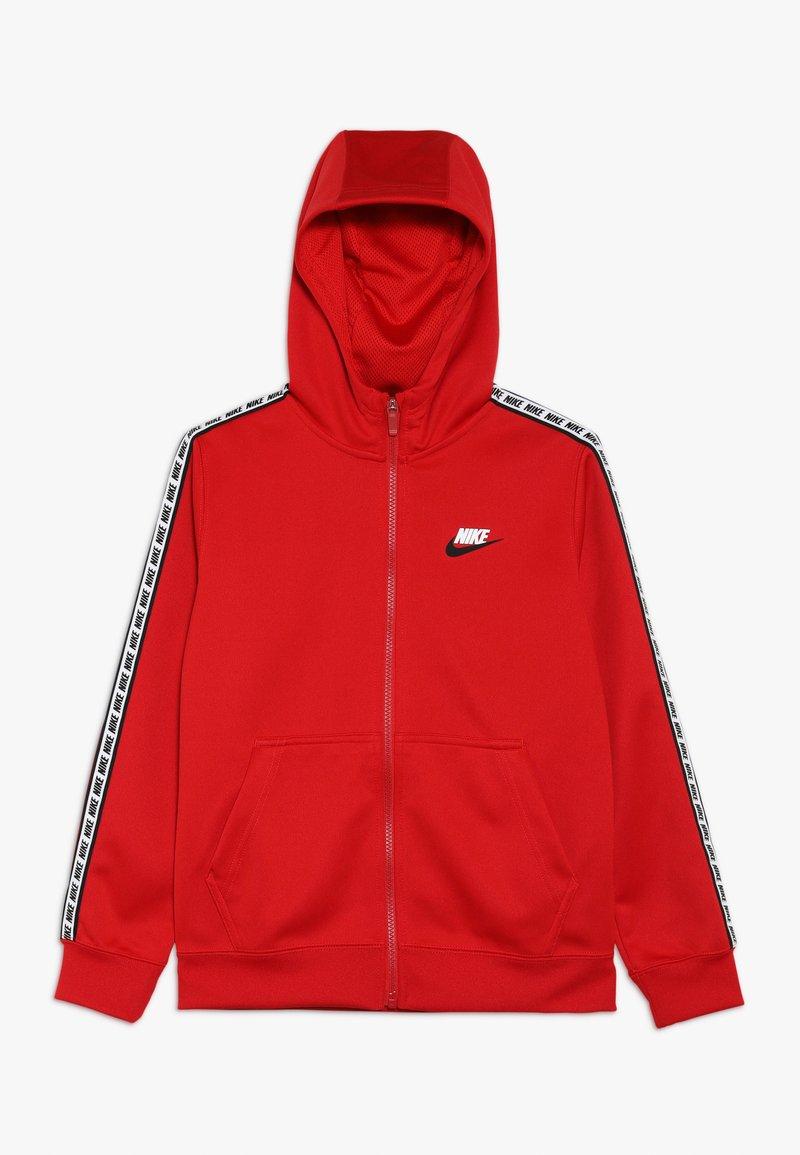 Nike Sportswear - HOODIE TAPED - Training jacket - university red/white