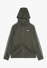 Nike Sportswear - HOODIE TAPED - Training jacket - medium olive/white - 0